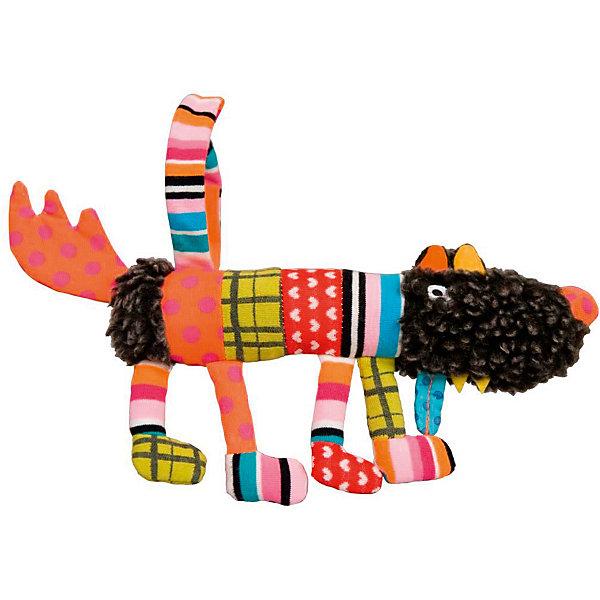 Мягкая игрушка Сосиска Волчонок S 20 см EbuloboМягкие игрушки животные<br>Характеристики:<br><br>• возраст: от 0 лет;<br>• материал: полиэстер, хлопок;<br>• вес: 100 гр.;<br>• размер: 23х4х4 см;<br>• страна бренда: Франция.<br><br>«Сосиска Волчонок S» от Ebulobo — яркая, красочная игрушка, развивающая тактильное, слуховое и зрительное восприятие ребенка. Волчонок приятен на ощупь, его шкурка оформлена разнообразными цветными элементами. Чтобы друг малыша всегда был рядом, его можно подвесить на кроватку или в коляску.<br><br>Хвостик, лапки, мордочка издают разные звуки во время игры. Игрушка обладает интересным дизайном, выполнена из качественных материалов, все швы надежно прошиты, поэтому она будет оставаться любимицей ребенка не один год.<br><br>Мягкую игрушку «Сосиска Волчонок S» 20 см Ebulobo можно купить в нашем интернет-магазине.<br><br>Ширина мм: 230<br>Глубина мм: 40<br>Высота мм: 40<br>Вес г: 100<br>Возраст от месяцев: 0<br>Возраст до месяцев: 36<br>Пол: Унисекс<br>Возраст: Детский<br>SKU: 7428425