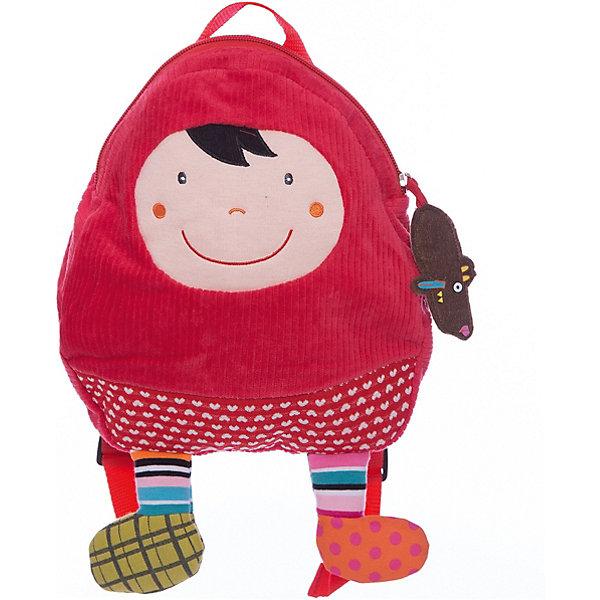 Рюкзачок Красная Шапочка EbuloboДетские рюкзаки<br>Характеристики:<br><br>• возраст: от 1 года;<br>• материал: хлопок, полиэстер;<br>• регулируемые лямки;<br>• ручка для переноски;<br>• вес: 150 гр.;<br>• размер: 56х40х25 см;<br>• страна бренда: Франция.<br><br>В рюкзачке «Красная Шапочка» Ebulobo поместится все, что необходимо малышу на прогулке, в гостях или в детском саду. Очаровательный мягкий рюкзак удобно ляжет на плечики ребенка благодаря регулируемым по росту лямкам.<br><br>Яркий дизайн с 3D элементами делает рюкзак еще и игрушкой. Изделие можно стирать. Все швы прошиты качественно, материал прочный, а значит рюкзачок долго будет радовать своего обладателя.<br><br>Рюкзачок «Красная шапочка» Ebulobo можно купить в нашем интернет-магазине.<br>Ширина мм: 560; Глубина мм: 400; Высота мм: 250; Вес г: 150; Возраст от месяцев: 12; Возраст до месяцев: 60; Пол: Женский; Возраст: Детский; SKU: 7428436;