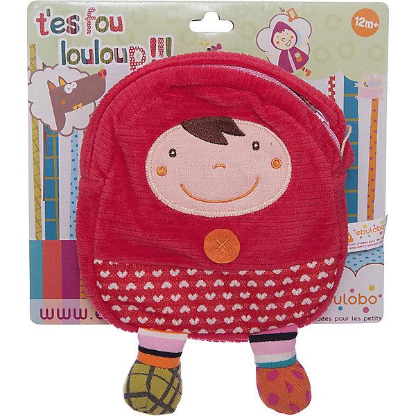 Сумочка Красная Шапочка EbuloboДетские сумки<br>Характеристики:<br><br>• возраст: от 1 года;<br>• материал: хлопок, полиэстер;<br>• застежка: молния;<br>• вес: 100 гр.;<br>• размер: 21х4х15 см;<br>• страна бренда: Франция.<br><br>В сумочке «Красная Шапочка» Ebulobo поместится все, что необходимо малышу на прогулке, в гостях или в детском саду. Очаровательная мягкая сумка удобно носится на плече или через плечо ребенка благодаря своему легкому весу и мягкой лямке.<br><br>Яркий дизайн с 3D элементами делает сумочку еще и игрушкой. Изделие можно стирать. Все швы прошиты качественно, материал прочный, а значит сумочка долго будет радовать свою обладательницу.<br><br>Сумочку «Красная Шапочка» Ebulobo можно купить в нашем интернет-магазине.<br>Ширина мм: 210; Глубина мм: 40; Высота мм: 150; Вес г: 100; Возраст от месяцев: 12; Возраст до месяцев: 60; Пол: Унисекс; Возраст: Детский; SKU: 7428440;