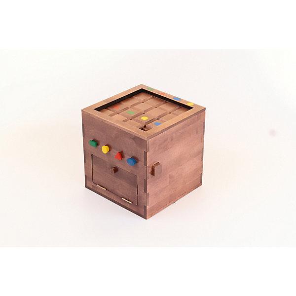 Логическая игра КвадрашкаОбучающие игры для дошкольников<br>Характеристики:<br><br>• возраст: от 3 лет;<br>• материал: дерево;<br>• вес: 3,5 кг.;<br>• размер упаковки: 30х30х30 см.<br><br>Логическая игра «Квадрашка» представляет собой ящик, одна часть которого – это игровое поле, а другая – шкатулка с сюрпризом. Сюрпризом может быть все, что родитель сам захочет подарить ребенку.<br><br>Суть игры заключается в том, чтобы малыш выполнил все задания на логику по принципу игры пятнашки. Тогда ребенок получит все ключи, которые и откроют заветный ящик.<br><br>Эта необычная игра развивает внимательность, усидчивость и логическое мышление. Мотивирует ребенка пройти до конца и не забросить процесс, а победа и желанный приз будут каждый раз вдохновлять юного эрудита на новые успехи.<br><br>Логическую игру «Квадрашка» можно купить в нашем интернет-магазине.<br>Ширина мм: 300; Глубина мм: 300; Высота мм: 300; Вес г: 3500; Возраст от месяцев: 24; Возраст до месяцев: 2147483647; Пол: Унисекс; Возраст: Детский; SKU: 7428444;