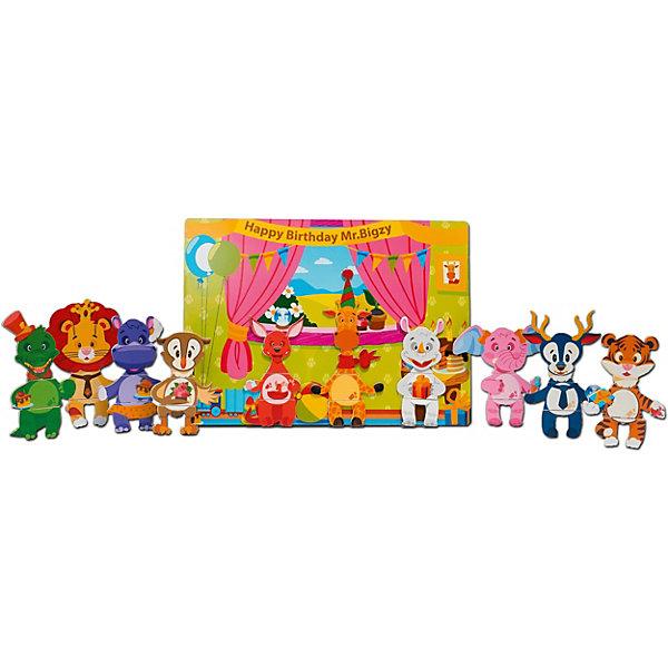 Mr. Bigzy Магнитная игра День рождение жирафа дер.игрушкаОбучающие игры для дошкольников<br>Характеристики:<br><br>• возраст: от 3 лет;<br>• материал: дерево;<br>• в наборе: 30 элементов игры;<br>• вес: 490 гр.;<br>• размер упаковки: 28х21х1 см;<br>• страна производитель: Россия.<br><br>Магнитная игра «День рождения жирафа» Mr. Bigzy поможет ребенку узнать какие животные бывают и как они называются. В процессе игры из деревянных элементов нужно создавать разных персонажей и располагать их на красочной магнитной доске.<br><br>Сделать это не так просто. Детали подходят друг к другу по форме, но малышу понадобится логическое мышление и умение сопоставлять цвета, чтобы собрать всех зверей правильно.<br><br>Игра развивает воображение и кругозор. Набор из дерева совершенно безопасен для здоровья.<br><br>Магнитную игру Mr. Bigzy «День рождения жирафа» дер.игрушка можно купить в нашем интернет-магазине.<br>Ширина мм: 280; Глубина мм: 210; Высота мм: 10; Вес г: 490; Возраст от месяцев: 24; Возраст до месяцев: 2147483647; Пол: Унисекс; Возраст: Детский; SKU: 7428452;