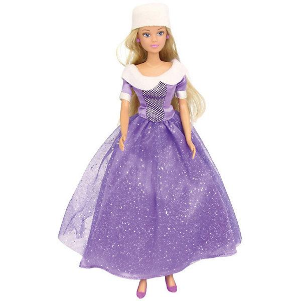 Купить Кукла Штеффи в блестящем зимнем наряде, фиолетовая, 29 см, Simba, Китай, Женский
