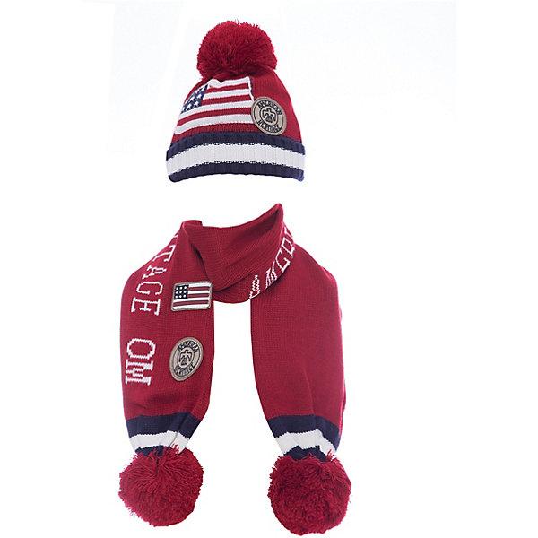 Комплект: шапка и шарф Original Marines для мальчикаКомплекты<br>Характеристики товара:<br><br>• цвет: красный<br>• комплектация: шарф, шапка<br>• состав ткани: 100% акрил<br>• сезон: демисезон<br>• страна бренда: Италия<br>• страна изготовитель: Китай<br><br>Симпатичный детский комплект состоит из шапки и шарфа. Демисезонный комплект украшен помпоном, аппликациями и вязаным узором. Такой детский комплект создает комфортные условия во время прохладной погоды. Детские товары от бренда Original Marines давно завоевали любовь потребителей благодаря высокому качеству и стильному дизайну. <br><br>Комплект: шапка и шарф Original Marines (Ориджинал Маринс) для мальчика можно купить в нашем интернет-магазине.<br>Ширина мм: 89; Глубина мм: 117; Высота мм: 44; Вес г: 155; Цвет: красный; Возраст от месяцев: 0; Возраст до месяцев: 3; Пол: Мужской; Возраст: Детский; Размер: 42-44,46-48; SKU: 7428861;