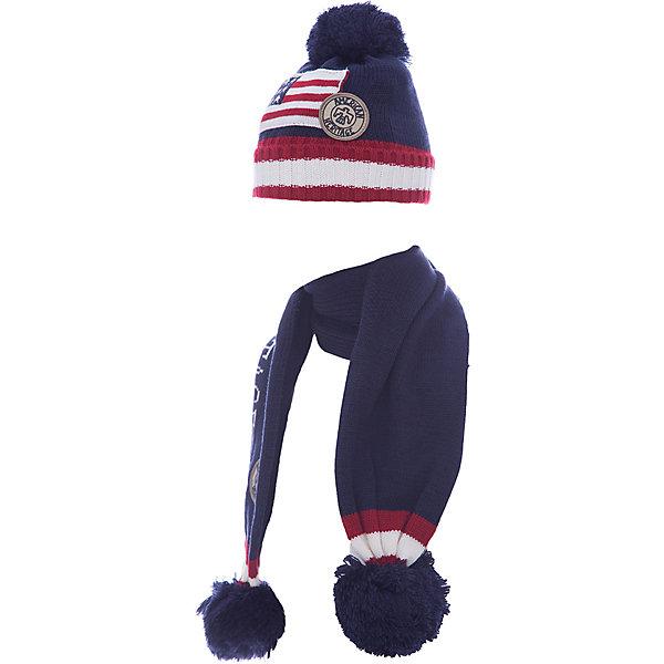 Комплект: шапка и шарф Original Marines для мальчикаКомплекты<br>Комплект: шапка и шарф Original Marines для мальчика<br>Состав:<br>100% акрил<br><br>Ширина мм: 89<br>Глубина мм: 117<br>Высота мм: 44<br>Вес г: 155<br>Цвет: синий<br>Возраст от месяцев: 12<br>Возраст до месяцев: 18<br>Пол: Мужской<br>Возраст: Детский<br>Размер: 46-48,42-44<br>SKU: 7428864