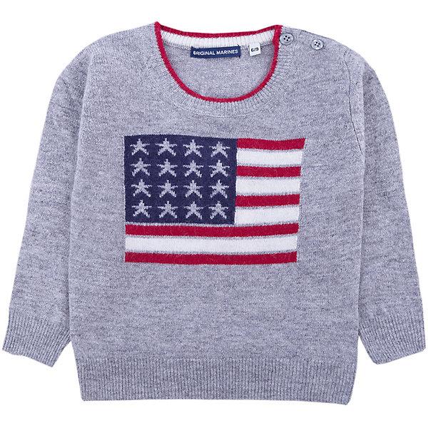 Свитер Original Marines для мальчикаТолстовки, свитера, кардиганы<br>Характеристики товара:<br><br>• цвет: серый<br>• состав ткани: 40% шерсть, 25% полиамид, 25% вискоза, 10% кашемир<br>• сезон: демисезон<br>• длинные рукава<br>• страна бренда: Италия<br>• страна изготовитель: Китай<br><br>Этот свитер для ребенка декорирован вязаным узором. Детский свитер может стать универсальной базовой вещью. Свитер для ребенка сделан из качественного материала. Детская одежда от итальянского бренда Original Marines обеспечит ребенку комфорт.<br><br>Свитер Original Marines (Ориджинал Маринс) для мальчика можно купить в нашем интернет-магазине.<br>Ширина мм: 190; Глубина мм: 74; Высота мм: 229; Вес г: 236; Цвет: серый; Возраст от месяцев: 12; Возраст до месяцев: 18; Пол: Мужской; Возраст: Детский; Размер: 86/92,68/74,80/86; SKU: 7428943;