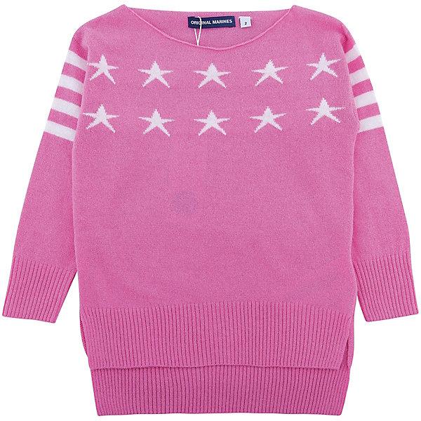 Свитер Original Marines для девочкиСвитера и кардиганы<br>Характеристики товара:<br><br>• цвет: розовый<br>• состав ткани: 40% шерсть, 25% полиамид, 25% вискоза, 10% кашемир<br>• сезон: демисезон<br>• длинные рукава<br>• страна бренда: Италия<br>• страна изготовитель: Китай<br><br>Розовый детский свитер отличается удлиненной спинкой. Свитер для ребенка стильно смотрится. Детский свитер создает комфортные условия и удобно сидит по фигуре. Детские товары от бренда Original Marines давно завоевали любовь потребителей благодаря высокому качеству и стильному дизайну. <br><br>Свитер Original Marines (Ориджинал Маринс) для девочки можно купить в нашем интернет-магазине.<br>Ширина мм: 190; Глубина мм: 74; Высота мм: 229; Вес г: 236; Цвет: розовый; Возраст от месяцев: 24; Возраст до месяцев: 36; Пол: Женский; Возраст: Детский; Размер: 92/98,116/122,110/116,104/110,98/104; SKU: 7428961;