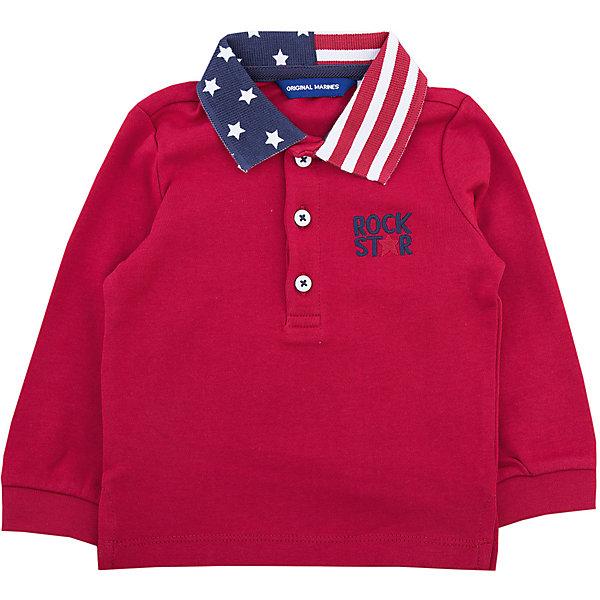 Джемпер Original Marines для мальчикаФутболки с длинным рукавом<br>Характеристики товара:<br><br>• цвет: красный<br>• состав ткани: 100% хлопок<br>• сезон: демисезон<br>• застежка: пуговицы<br>• длинные рукава<br>• страна бренда: Италия<br>• комфорт и качество<br><br>Детская одежда от итальянского бренда Original Marines обеспечит ребенку комфорт. Этот джемпер для ребенка декорирован вышивкой. Детский джемпер с воротником-поло может стать универсальной базовой вещью. Джемпер для ребенка сделан из качественного натурального материала. <br><br>Джемпер Original Marines (Ориджинал Маринс) для мальчика можно купить в нашем интернет-магазине.<br>Ширина мм: 190; Глубина мм: 74; Высота мм: 229; Вес г: 236; Цвет: красный; Возраст от месяцев: 6; Возраст до месяцев: 9; Пол: Мужской; Возраст: Детский; Размер: 68/74,86/92,80/86; SKU: 7428984;