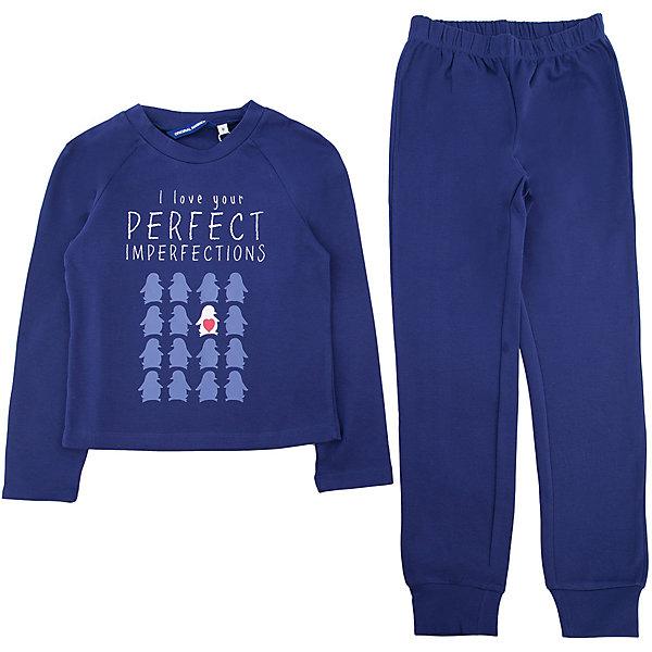 Пижама Original Marines для девочкиПижамы и сорочки<br>Характеристики товара:<br><br>• цвет: синий<br>• комплектация: лонгслив, брюки<br>• состав ткани: 100% хлопок<br>• сезон: круглый год<br>• застежка: кнопки<br>• пояс: резинка<br>• длинные рукава<br>• страна бренда: Италия<br>• страна изготовитель: Бангладеш<br><br>Качественный натуральный материал пижамы для детей позволяет коже дышать. Мягкий хлопок, из которого сделана детская пижама, приятен на ощупь и гипоаллергенен. Пижама для ребенка украшена оригинальным принтом. Детская одежда от итальянского бренда Original Marines обеспечит ребенку комфорт.<br><br>Пижаму Original Marines (Ориджинал Маринс) для девочки можно купить в нашем интернет-магазине.<br>Ширина мм: 281; Глубина мм: 70; Высота мм: 188; Вес г: 295; Цвет: синий; Возраст от месяцев: 96; Возраст до месяцев: 108; Пол: Женский; Возраст: Детский; Размер: 128/134,152/158,140/146; SKU: 7429247;