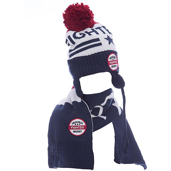 Комплект: шапка и шарф Original Marines для мальчикаКомплекты<br>Характеристики товара:<br><br>• цвет: синий<br>• комплектация: шарф, шапка<br>• состав ткани: 100% акрил<br>• сезон: демисезон<br>• страна бренда: Италия<br>• страна изготовитель: Китай<br><br>Оригинальный детский комплект состоит из шапки и шарфа. Демисезонный комплект украшен помпоном, аппликациями и вязаным узором. Такой детский комплект создает комфортные условия во время прохладной погоды. Детские товары от бренда Original Marines давно завоевали любовь потребителей благодаря высокому качеству и стильному дизайну. <br><br>Комплект: шапка и шарф Original Marines (Ориджинал Маринс) для мальчика можно купить в нашем интернет-магазине.<br>Ширина мм: 89; Глубина мм: 117; Высота мм: 44; Вес г: 155; Цвет: синий; Возраст от месяцев: 120; Возраст до месяцев: 132; Пол: Мужской; Возраст: Детский; Размер: 50-53,53-56; SKU: 7429260;