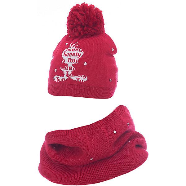 Комплект: шапка и шарф Original Marines для девочкиКомплекты<br>Характеристики товара:<br><br>• цвет: красный<br>• комплектация: шарф, шапка<br>• состав ткани: 100% акрил<br>• сезон: демисезон<br>• стразы<br>• страна бренда: Италия<br>• страна изготовитель: Китай<br><br>Симпатичный детский комплект состоит из шапки и шарфа. Демисезонный комплект украшен помпоном и стразами. Такой детский комплект создает комфортные условия во время прохладной погоды. Детские товары от бренда Original Marines давно завоевали любовь потребителей благодаря высокому качеству и стильному дизайну. <br><br>Комплект: шапка и шарф Original Marines (Ориджинал Маринс) для девочки можно купить в нашем интернет-магазине.<br>Ширина мм: 89; Глубина мм: 117; Высота мм: 44; Вес г: 155; Цвет: красный; Возраст от месяцев: 12; Возраст до месяцев: 18; Пол: Женский; Возраст: Детский; Размер: 50-53,53-56; SKU: 7429296;