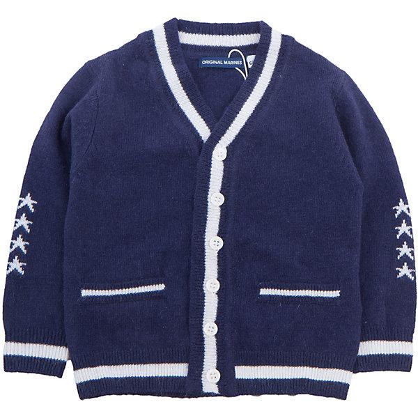 Кардиган Original Marines для мальчикаТолстовки, свитера, кардиганы<br>Характеристики товара:<br><br>• цвет: синий<br>• состав ткани: 40% шерсть, 25% полиамид, 25% вискоза, 10% кашемир<br>• сезон: демисезон<br>• застежка: пуговицы<br>• длинные рукава<br>• страна бренда: Италия<br>• страна изготовитель: Китай<br><br>Удобный детский кардиган обеспечит ребенку комфорт благодаря продуманному крою. Кардиган для ребенка сделан из мягкого качественного материала. Детский кардиган комфортно сидит, не вызывает неудобств. Итальянский бренд Original Marines - это стильный продуманный дизайн и неизменно высокое качество исполнения. <br><br>Кардиган Original Marines (Ориджинал Маринс) для мальчика можно купить в нашем интернет-магазине.<br>Ширина мм: 190; Глубина мм: 74; Высота мм: 229; Вес г: 236; Цвет: синий; Возраст от месяцев: 12; Возраст до месяцев: 18; Пол: Мужской; Возраст: Детский; Размер: 86/92,68/74,80/86; SKU: 7429328;
