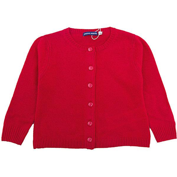 Кардиган Original Marines для девочкиТолстовки, свитера, кардиганы<br>Характеристики товара:<br><br>• цвет: красный<br>• состав ткани: 40% шерсть, 25% полиамид, 25% вискоза, 10% кашемир<br>• сезон: демисезон<br>• застежка: пуговицы<br>• длинные рукава<br>• страна бренда: Италия<br>• страна изготовитель: Китай<br><br>Эффектный кардиган для ребенка удобно застегивается на пуговицы. Детский кардиган может стать универсальной базовой вещью. Кардиган для ребенка сделан из качественного материала. Детская одежда от итальянского бренда Original Marines обеспечит ребенку комфорт.<br><br>Кардиган Original Marines (Ориджинал Маринс) для девочки можно купить в нашем интернет-магазине.<br>Ширина мм: 190; Глубина мм: 74; Высота мм: 229; Вес г: 236; Цвет: красный; Возраст от месяцев: 6; Возраст до месяцев: 9; Пол: Женский; Возраст: Детский; Размер: 68/74,86/92,80/86; SKU: 7429340;