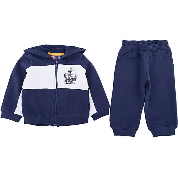 Спортивный костюм Original Marines для мальчикаКомплекты<br>Характеристики товара:<br><br>• цвет: синий<br>• комплектация: толстовка, брюки<br>• состав ткани: 100% хлопок<br>• сезон: демисезон<br>• особенности модели: спортивный стиль<br>• застежка: молния<br>• пояс: резинка, шнурок<br>• длинные рукава<br>• страна бренда: Италия<br>• страна изготовитель: Бангладеш<br><br>Детский спортивный костюм обеспечит ребенку комфорт благодаря продуманному крою. Спортивный костюм для ребенка сделан из натурального качественного материала. Детский спортивный костюм комфортно сидит, не вызывает неудобств. Итальянский бренд Original Marines - это стильный продуманный дизайн и неизменно высокое качество исполнения. <br><br>Спортивный костюм Original Marines (Ориджинал Маринс) для мальчика можно купить в нашем интернет-магазине.<br>Ширина мм: 247; Глубина мм: 16; Высота мм: 140; Вес г: 225; Цвет: синий; Возраст от месяцев: 6; Возраст до месяцев: 9; Пол: Мужской; Возраст: Детский; Размер: 68/74,86/92,80/86; SKU: 7429520;