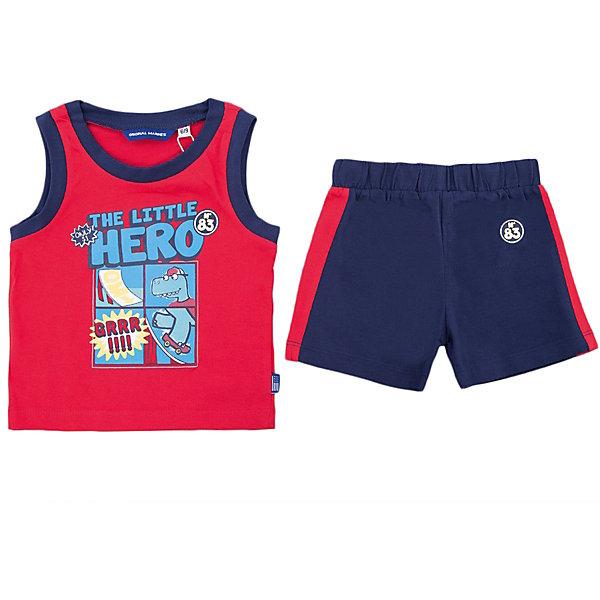 Комплект:майка и шорты Original Marines для мальчикаКомплекты<br>Характеристики товара:<br><br>• цвет: красный<br>• комплектация: майка и шорты <br>• состав ткани: 100% хлопок<br>• сезон: лето<br>• особенности модели: спортивный стиль<br>• пояс: резинка<br>• страна бренда: Италия<br>• страна изготовитель: Бангладеш<br><br>Такой детский комплект состоит из двух предметов, которые хорошо сочетаются с другими вещами. Шорты от комплекта для ребенка не давят на живот - в них мягкая резинка. Детский костюм создает комфортные условия и удобно сидит по фигуре. Детские товары от бренда Original Marines давно завоевали любовь потребителей благодаря высокому качеству и стильному дизайну. <br><br>Комплект: майка и шорты Original Marines (Ориджинал Маринс) для мальчика можно купить в нашем интернет-магазине.<br>Ширина мм: 199; Глубина мм: 10; Высота мм: 161; Вес г: 151; Цвет: красный; Возраст от месяцев: 6; Возраст до месяцев: 9; Пол: Мужской; Возраст: Детский; Размер: 68/74,80/86,86/92; SKU: 7429576;
