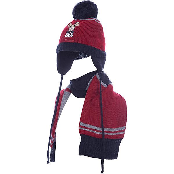 Комплект: шапка и шарф Original Marines для мальчикаКомплекты<br>Характеристики товара:<br><br>• цвет: красный<br>• комплектация: шарф, шапка<br>• состав ткани: 100% акрил<br>• сезон: демисезон<br>• страна бренда: Италия<br>• комфорт и качество<br><br>Такой комплект для ребенка сделан из качественного материала. Детская одежда от итальянского бренда Original Marines обеспечит ребенку комфорт. Такой детский комплект состоит из шапки и шарфа. Демисезонный комплект украшен оригинальной аппликацией.<br><br>Комплект: шапка и шарф Original Marines (Ориджинал Маринс) для мальчика можно купить в нашем интернет-магазине.<br>Ширина мм: 89; Глубина мм: 117; Высота мм: 44; Вес г: 155; Цвет: красный; Возраст от месяцев: 0; Возраст до месяцев: 3; Пол: Мужской; Возраст: Детский; Размер: 42-44,46-48; SKU: 7429635;