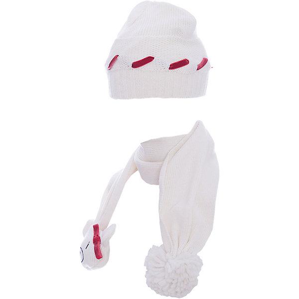 Комплект: шапка и шарф Original Marines для девочкиКомплекты<br>Характеристики товара:<br><br>• цвет: белый<br>• комплектация: шарф, шапка<br>• состав ткани: 100% акрил<br>• сезон: демисезон<br>• страна бренда: Италия<br>• страна изготовитель: Китай<br><br> Демисезонный комплект украшен помпонами и контрастным шнуром. Симпатичный детский комплект состоит из шапки и шарфа. Такой детский комплект создает комфортные условия во время прохладной погоды. Детские товары от бренда Original Marines давно завоевали любовь потребителей благодаря высокому качеству и стильному дизайну. <br><br>Комплект: шапка и шарф Original Marines (Ориджинал Маринс) для девочки можно купить в нашем интернет-магазине.<br>Ширина мм: 89; Глубина мм: 117; Высота мм: 44; Вес г: 155; Цвет: белый; Возраст от месяцев: 0; Возраст до месяцев: 3; Пол: Женский; Возраст: Детский; Размер: 42-44,46-48; SKU: 7429638;