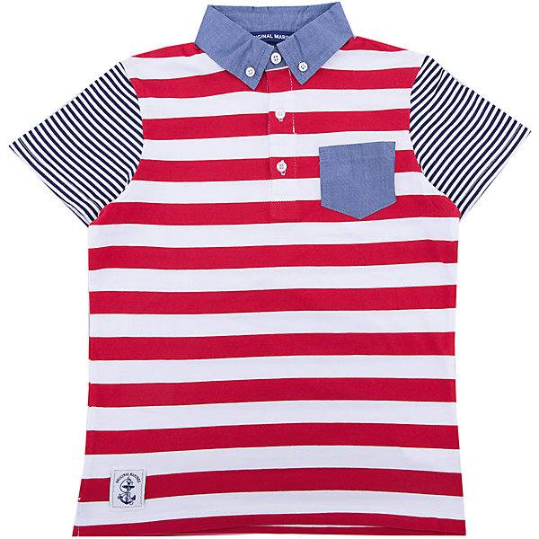 Футболка-поло Original Marines для мальчикаФутболки, поло и топы<br>Характеристики товара:<br><br>• цвет: красный<br>• состав ткани: 100% хлопок<br>• сезон: лето<br>• короткие рукава<br>• страна бренда: Италия<br>• комфорт и качество<br><br>Стильная футболка для ребенка декорирована накладным карманом. Детская футболка-поло имеет контрастные рукава. Футболка-поло для ребенка сделана из качественного материала. Детская одежда от итальянского бренда Original Marines обеспечит ребенку комфорт.<br><br>Футболку-поло Original Marines (Ориджинал Маринс) для мальчика можно купить в нашем интернет-магазине.<br>Ширина мм: 199; Глубина мм: 10; Высота мм: 161; Вес г: 151; Цвет: красный; Возраст от месяцев: 96; Возраст до месяцев: 108; Пол: Мужской; Возраст: Детский; Размер: 128/134,140/146; SKU: 7429743;