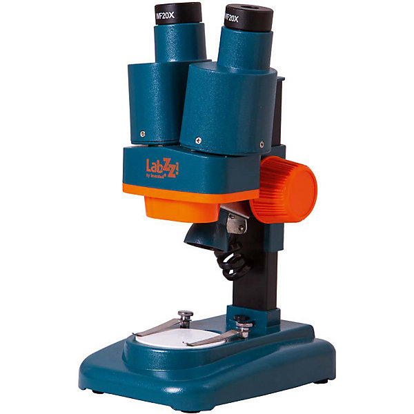 Микроскоп Levenhuk LabZZ M4 стереоМикроскопы<br>Характеристики товара:<br><br>• возраст: от 5 лет;<br>• вес: 770 гр.;<br>• тип микроскопа: стереоскопические/инструментальные;<br>• тип насадки:  бинокулярные;<br>• материал оптики: оптическое стекло;<br>• угол наклона окулярной насадки: без наклона;<br>• увеличение:  40 крат;<br>• диаметр окулярной трубки:  23,2  мм.;<br>• окуляры  WF20x: 2 шт.;<br>• объективы:  2х;<br>• рабочее расстояние, мм  75<br>• межзрачковое расстояние:  50–75 мм.;<br>• предметный столик:  ?50 мм., с препаратодержателями<br>• фокусировка:  грубая;<br>• диапазон регулировки: 35 мм<br>• корпус  пластик<br>• подсветка  светодиодная<br>• источник питания:  батарейки типа АА – 2 шт. (нет в комплекте)<br>• диапазон рабочих температур:  -5... 40°С;<br>• расположение подсветки:  верхняя;<br>• метод исследования: светлое поле;<br>• чехол в комплекте;<br>• упаковка: картонная коробка;<br>• страна бренда: США;<br>• страна-изготовитель: КНР.<br><br>Тереоскопический микроскоп  «LabZZ M4» Levenhuk (Левенгук) передает объемное изображение и отлично подходит для изучения крупных минералов, камней, монет, образцов почвы, растений и насекомых. Эта модель разработана специально для детей. Микроскоп небольшой, легкий, им легко управлять. С его помощью юный биолог сможет проводить дома настоящие научные опыты и изучать окружающий мир.<br><br>У микроскопа удобная бинокулярная насадка и объектив с фиксированным двукратным увеличением. В комплект включены два широкоугольных окуляра с кратностью 20х. Большое поле зрения микроскопа позволяет рассматривать протяженные объекты, а увеличение в 40 крат подробно изучать структуры предметов.<br><br>Для исследований образцы помещаются на круглый предметный столик, микропрепараты можно закрепить с помощью металлических зажимов. При плохой освещенности используется верхняя светодиодная подсветка. Она работает от батареек (нет в комплекте).<br><br>Комплект поставки: Микроско, Окуляры WF20x (2 шт.), Чехол, Инструкция по эксплуатац