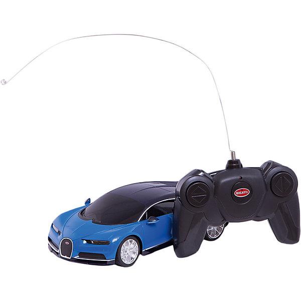 Радиоуправляемая машина Rastar Bugatti Chiron, 1:24Радиоуправляемые машины<br>Характеристики товара:<br><br>• возраст: от 8 лет;<br>• модель: Bugatti Chiron;<br>• масштаб: 1:24;<br>• комплект: машина, пульт управления;<br>• тип батареек: 5 x AA / LR6 1.5V (пальчиковые);<br>• наличие батареек: не входят в комплект;<br>• питание пульта: 2 х АА / LR6 1.5V (пальчиковые);<br>• наличие батареек для пульта: не входят в комплект;<br>• состав: пластик, металл;<br>• размер упаковки: 38,5 x 12 x 10 см.;<br>• размер игрушки: 18,9 х 9,2 х 5,2 см.;<br>• упаковка: картонная коробка;<br>• вес в упаковке: 450 гр.;<br>• бренд, страна: RASTAR;<br>• страна-производитель: Китай.<br><br>Машина на радиоуправлении «Bugatti Chiron»  - уменьшенная модель гиперкара, выпущенного в 2016 году. <br><br>Реалистичное исполнение, глянцевое покрытие, резиновые шины, мощный движок и отличная маневренность - это еще не все его достоинства, выделяющие данный автомобиль. <br><br>Автомобиль двигается вовсех направлениях, есть передний и задний свет, а также  независимая подвеска. Дальность действия пульта управления составляет 30-40 метров, скорость машины - 8-10 км/час.  <br><br>Стильный и функциональный суперкар станет гордостью любого мальчика.<br><br>Машина на радиоуправлении «Bugatti Chiron» от RASTAR можно купить в нашем интернет-магазине.<br>Ширина мм: 385; Глубина мм: 120; Высота мм: 100; Вес г: 450; Возраст от месяцев: 60; Возраст до месяцев: 180; Пол: Мужской; Возраст: Детский; SKU: 7431666;