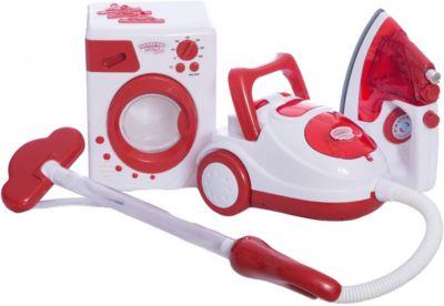 Игровой набор ABtoys Помогаю маме Стиральная машина, утюг и пылесос
