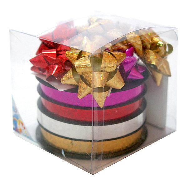 Набор для подарочной упаковкиПодарочные ленты<br>Набор для подарочной упаковки:бантики 12 шт.х 4 см, лента 4 шт.х10 ммх20 м,картонные подарочные бирк<br><br>Ширина мм: 100<br>Глубина мм: 100<br>Высота мм: 100<br>Вес г: 90<br>Возраст от месяцев: 36<br>Возраст до месяцев: 2147483647<br>Пол: Унисекс<br>Возраст: Детский<br>SKU: 7434035