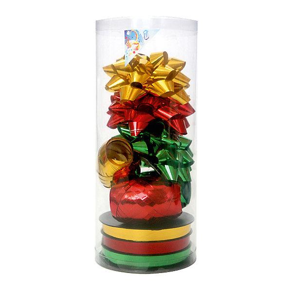 Набор для подарочной упаковкиПодарочные ленты<br>Набор для подарочной упаковки:бантики 3 шт.х9 см,лента 3 шт.х5 ммх20 м,лента 3 шт.х10 ммх20 м, ПВХ<br>Ширина мм: 100; Глубина мм: 100; Высота мм: 100; Вес г: 104; Возраст от месяцев: 36; Возраст до месяцев: 2147483647; Пол: Унисекс; Возраст: Детский; SKU: 7434039;
