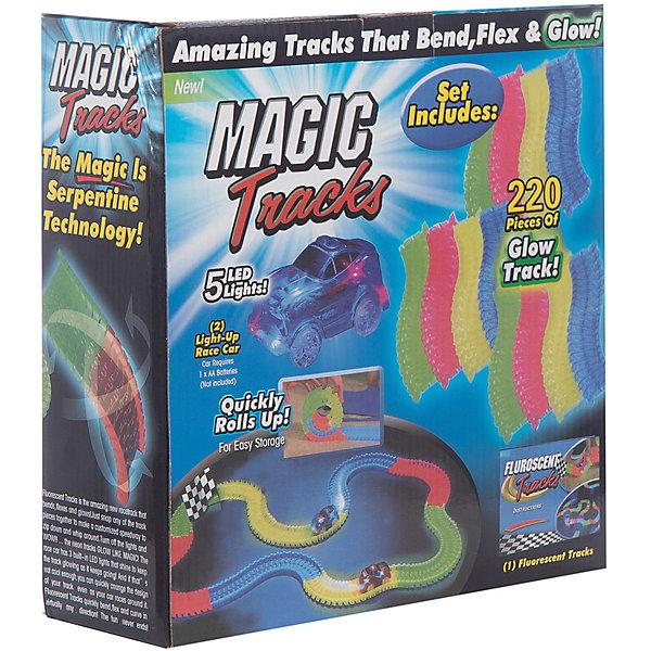 Гибкий трек Magic Tracks Ontel, 220 светящихся деталейГибкие треки<br>Характеристики:<br><br>• возраст: от 3 лет;<br>• материал: пластик;<br>• в комплекте: 220 светящихся деталей, 1 машинки светящаяся, подробная инструкция;<br>• тип батареек: 1 батарейка АА;<br>• наличие батареек: в комплект не входят;<br>• в собранном состоянии: 3,35м гоночной трассы;<br>• размер упаковки: 25х25х8 см;<br>• вес упаковки: 1,5 кг;<br><br>Уникальная игрушка для соревнований, да и просто забавного времяпрепровождения, представляет собой детали конструктора которые легко соединяются между собой образуя причудливую гоночную трассу. <br><br>Magic Tracks является необычайно красочным светящимся гоночным треком, завоевавшим сердца миллионов детей и их родителей по всему миру. Такого изгиба гоночной трассы и необыкновенного свечения в темноте Вы никогда не видели! Вы можете изогнуть трассу на 360%, создать искусственные препятствия и любоваться как энергично машинка их преодолевает).<br><br>Ребенок самостоятельно решает в каком направлении поедет автомобиль, создает препятствия и горки. Прямо во время игры трассу можно лего повернуть не останавливая движение машинок. <br><br>Конструктор собран полностью из экологически чистых и безопасных материалов.<br><br>Гибкий трек Ontel, 220  светящихся деталей Magic Tracks можно купить в нашем интернет-магазине.<br><br>Ширина мм: 250<br>Глубина мм: 250<br>Высота мм: 90<br>Вес г: 1600<br>Возраст от месяцев: 36<br>Возраст до месяцев: 2147483647<br>Пол: Мужской<br>Возраст: Детский<br>SKU: 7434603