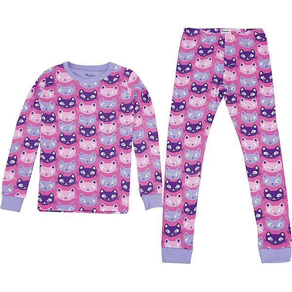 Пижама Hatley для девочкиПижамы и сорочки<br>Характеристики товара:<br><br>• цвет: розовый<br>• комплектация: лонгслив, брюки<br>• состав ткани: 100% хлопок<br>• сезон: круглый год<br>• пояс: резинка<br>• длинные рукава<br>• страна бренда: Канада<br>• страна изготовитель: Индия<br><br>Хлопковая детская пижама легко надевается благодаря эластичному материалу. Брюки от пижамы для ребенка не давят на живот - в них мягкая резинка. Такая детская пижама создает комфортные условия и удобно сидит по фигуре. Товары для детей от бренда Hatley из Канады завоевали любовь потребителей благодаря высокому качеству и стильному дизайну. <br><br>Пижаму Hatley (Хатли) для девочки можно купить в нашем интернет-магазине.<br>Ширина мм: 281; Глубина мм: 70; Высота мм: 188; Вес г: 295; Цвет: розовый; Возраст от месяцев: 48; Возраст до месяцев: 60; Пол: Женский; Возраст: Детский; Размер: 110,128,122,116,104,98,92; SKU: 7434637;