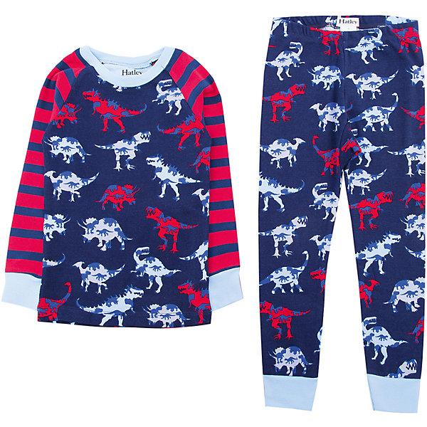 Пижама Hatley для мальчикаПижамы и сорочки<br>Характеристики товара:<br><br>• цвет: синий<br>• комплектация: лонгслив, брюки<br>• состав ткани: 100% хлопок<br>• сезон: круглый год<br>• пояс: резинка<br>• длинные рукава<br>• страна бренда: Канада<br>• страна изготовитель: Индия<br><br>Мягкий натуральный материал пижамы для детей позволяет коже дышать. Хлопок, из которого сделана детская пижама, приятен на ощупь и гипоаллергенен. Пижама для ребенка украшена оригинальным принтом. Детская одежда от канадского бренда Hatley обеспечит ребенку комфорт.<br><br>Пижаму Hatley (Хатли) для мальчика можно купить в нашем интернет-магазине.<br><br>Ширина мм: 281<br>Глубина мм: 70<br>Высота мм: 188<br>Вес г: 295<br>Цвет: синий<br>Возраст от месяцев: 18<br>Возраст до месяцев: 24<br>Пол: Мужской<br>Возраст: Детский<br>Размер: 92,122,116,110,104,98<br>SKU: 7434652