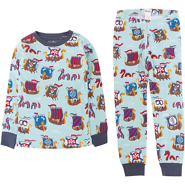 Пижама Hatley для мальчикаПижамы и сорочки<br>Характеристики товара:<br><br>• цвет: голубой<br>• комплектация: лонгслив, брюки<br>• состав ткани: 100% хлопок<br>• сезон: круглый год<br>• пояс: резинка<br>• длинные рукава<br>• страна бренда: Канада<br>• страна изготовитель: Индия<br><br>Эта детская пижама обеспечит ребенку комфорт во время сна благодаря мягким манжетам. Пижама для ребенка сделана из мягкого и дышащего хлопка. Детская пижама комфортно сидит, не вызывает неудобств. Канадский бренд Hatley - это одежда со стильным дизайном и высоким качеством исполнения.<br><br>Пижаму Hatley (Хатли) для мальчика можно купить в нашем интернет-магазине.<br><br>Ширина мм: 281<br>Глубина мм: 70<br>Высота мм: 188<br>Вес г: 295<br>Цвет: голубой<br>Возраст от месяцев: 72<br>Возраст до месяцев: 84<br>Пол: Мужской<br>Возраст: Детский<br>Размер: 122,92,98,104,110,116<br>SKU: 7434666