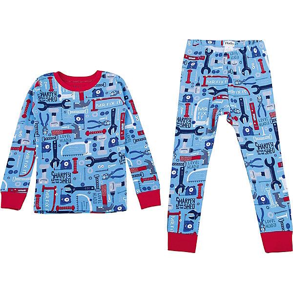 Пижама Hatley для мальчикаПижамы и сорочки<br>Характеристики товара:<br><br>• цвет: голубой<br>• комплектация: лонгслив, брюки<br>• состав ткани: 100% хлопок<br>• сезон: круглый год<br>• пояс: резинка<br>• длинные рукава<br>• страна бренда: Канада<br>• страна изготовитель: Индия<br><br>Голубая детская пижама обеспечит ребенку комфорт во время сна благодаря мягким манжетам. Пижама для ребенка сделана из мягкого и дышащего хлопка. Детская пижама комфортно сидит, не вызывает неудобств. Канадский бренд Hatley - это одежда со стильным дизайном и высоким качеством исполнения.<br><br>Пижаму Hatley (Хатли) для мальчика можно купить в нашем интернет-магазине.<br>Ширина мм: 281; Глубина мм: 70; Высота мм: 188; Вес г: 295; Цвет: голубой; Возраст от месяцев: 72; Возраст до месяцев: 84; Пол: Мужской; Возраст: Детский; Размер: 122,92,98,104,110,116; SKU: 7434688;