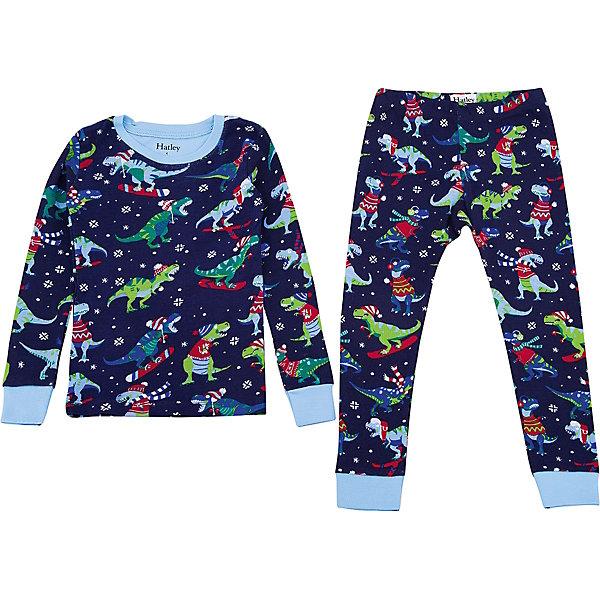 Пижама Hatley для мальчикаПижамы и сорочки<br>Характеристики товара:<br><br>• цвет: синий<br>• комплектация: лонгслив, брюки<br>• состав ткани: 100% хлопок<br>• сезон: круглый год<br>• пояс: резинка<br>• длинные рукава<br>• страна бренда: Канада<br>• страна изготовитель: Индия<br><br>Такая пижама для ребенка украшена оригинальным принтом и дополнена манжетами. Мягкий натуральный материал пижамы для детей позволяет коже дышать. Хлопок, из которого сделана детская пижама, приятен на ощупь и гипоаллергенен. Детская одежда от канадского бренда Hatley обеспечит ребенку комфорт.<br><br>Пижаму Hatley (Хатли) для мальчика можно купить в нашем интернет-магазине.<br>Ширина мм: 281; Глубина мм: 70; Высота мм: 188; Вес г: 295; Цвет: синий; Возраст от месяцев: 18; Возраст до месяцев: 24; Пол: Мужской; Возраст: Детский; Размер: 92,116,110,104,98; SKU: 7434695;