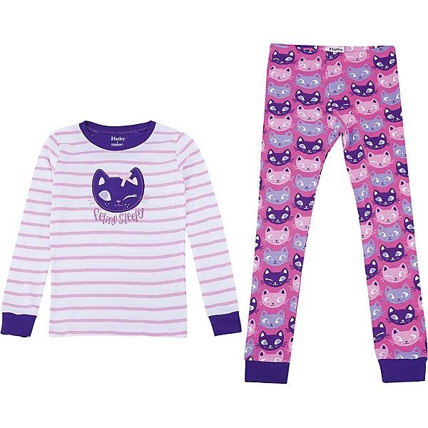 Пижама Hatley для девочкиПижамы и сорочки<br>Характеристики товара:<br><br>• цвет: розовый<br>• комплектация: лонгслив, брюки<br>• состав ткани: 100% хлопок<br>• сезон: круглый год<br>• пояс: резинка<br>• длинные рукава<br>• страна бренда: Канада<br>• страна изготовитель: Индия<br><br>Качественная детская одежда от канадского бренда Hatley обеспечит ребенку комфорт. Такая пижама для ребенка украшена оригинальным принтом и дополнена манжетами. Мягкий натуральный материал пижамы для детей позволяет коже дышать. Хлопок, из которого сделана детская пижама, приятен на ощупь и гипоаллергенен. <br><br>Пижаму Hatley (Хатли) для девочки можно купить в нашем интернет-магазине.<br>Ширина мм: 281; Глубина мм: 70; Высота мм: 188; Вес г: 295; Цвет: розовый; Возраст от месяцев: 84; Возраст до месяцев: 96; Пол: Женский; Возраст: Детский; Размер: 128,98,104,110,116,122; SKU: 7434717;