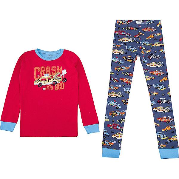 Пижама Hatley для мальчикаПижамы и сорочки<br>Характеристики товара:<br><br>• цвет: красный<br>• комплектация: лонгслив, брюки<br>• состав ткани: 100% хлопок<br>• сезон: круглый год<br>• пояс: резинка<br>• длинные рукава<br>• страна бренда: Канада<br>• страна изготовитель: Индия<br><br>Эта детская пижама создает комфортные условия и удобно сидит по фигуре. Товары для детей от бренда Hatley из Канады завоевали любовь потребителей благодаря высокому качеству и стильному дизайну. Яркая хлопковая детская пижама легко надевается благодаря эластичному материалу. Брюки от пижамы для ребенка не давят на живот - в них мягкая резинка. <br><br>Пижаму Hatley (Хатли) для мальчика можно купить в нашем интернет-магазине.<br>Ширина мм: 281; Глубина мм: 70; Высота мм: 188; Вес г: 295; Цвет: красный; Возраст от месяцев: 18; Возраст до месяцев: 24; Пол: Мужской; Возраст: Детский; Размер: 92,128,122,116,110,104,98; SKU: 7434724;