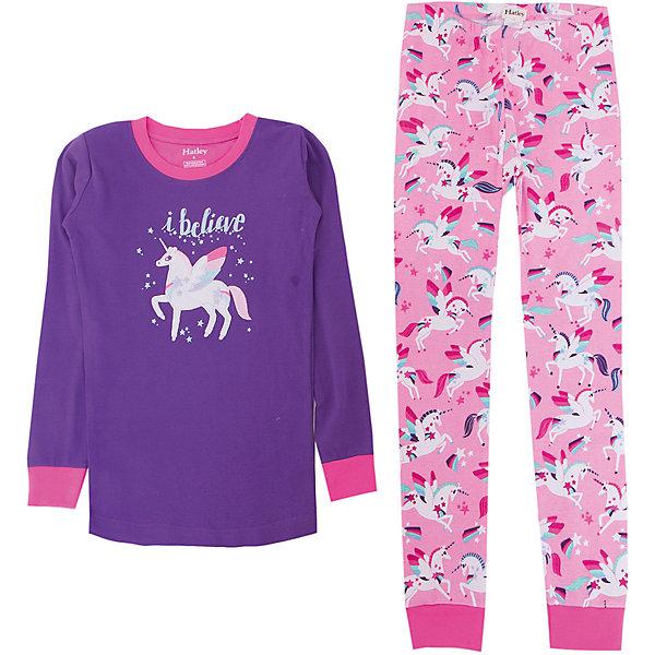 Пижама Hatley для девочкиПижамы и сорочки<br>Характеристики товара:<br><br>• цвет: фиолетовый<br>• комплектация: лонгслив, брюки<br>• состав ткани: 100% хлопок<br>• сезон: круглый год<br>• пояс: резинка<br>• длинные рукава<br>• страна бренда: Канада<br>• страна изготовитель: Индия<br><br>Яркая хлопковая детская пижама легко надевается благодаря эластичному материалу. Брюки от пижамы для ребенка не давят на живот - в них мягкая резинка. Удобная детская пижама создает комфортные условия и удобно сидит по фигуре. Товары для детей от бренда Hatley из Канады завоевали любовь потребителей благодаря высокому качеству и стильному дизайну. <br><br>Пижаму Hatley (Хатли) для девочки можно купить в нашем интернет-магазине.<br><br>Ширина мм: 281<br>Глубина мм: 70<br>Высота мм: 188<br>Вес г: 295<br>Цвет: фиолетовый<br>Возраст от месяцев: 36<br>Возраст до месяцев: 48<br>Пол: Женский<br>Возраст: Детский<br>Размер: 104,98,128,122,116,110<br>SKU: 7434746