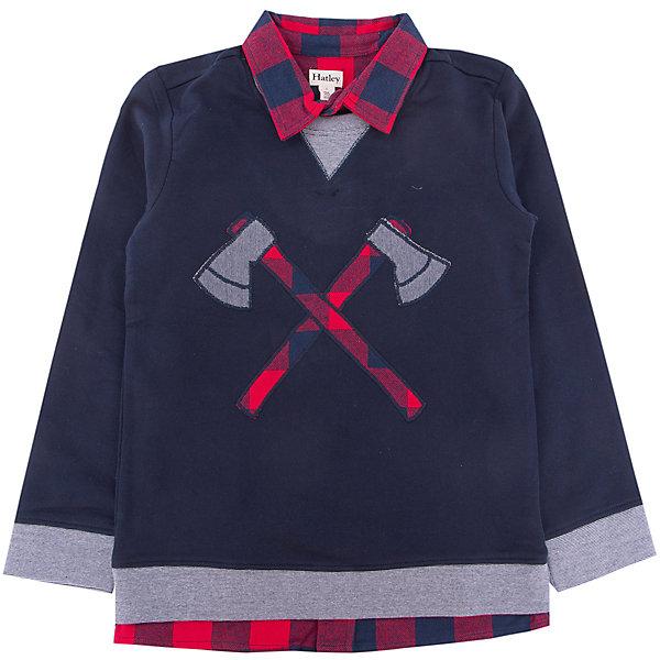 Кофта Hatley для мальчикаСвитера и кардиганы<br>Характеристики товара:<br><br>• цвет: синий<br>• состав ткани: 95% хлопок, 5%полиэстер<br>• сезон: демисезон<br>• длинные рукава<br>• страна бренда: Канада<br>• страна изготовитель: Индия<br><br>Хлопковая детская кофта поможет создать оригинальный наряд. Кофта для ребенка сделана из мягкого и дышащего материала. Детская кофта комфортно сидит, не вызывает неудобств. Канадский бренд Hatley - это одежда со стильным дизайном и высоким качеством исполнения.<br><br>Кофту Hatley (Хатли) для мальчика можно купить в нашем интернет-магазине.<br>Ширина мм: 190; Глубина мм: 74; Высота мм: 229; Вес г: 236; Цвет: синий; Возраст от месяцев: 84; Возраст до месяцев: 96; Пол: Мужской; Возраст: Детский; Размер: 128,98,104,110,116,122; SKU: 7434769;