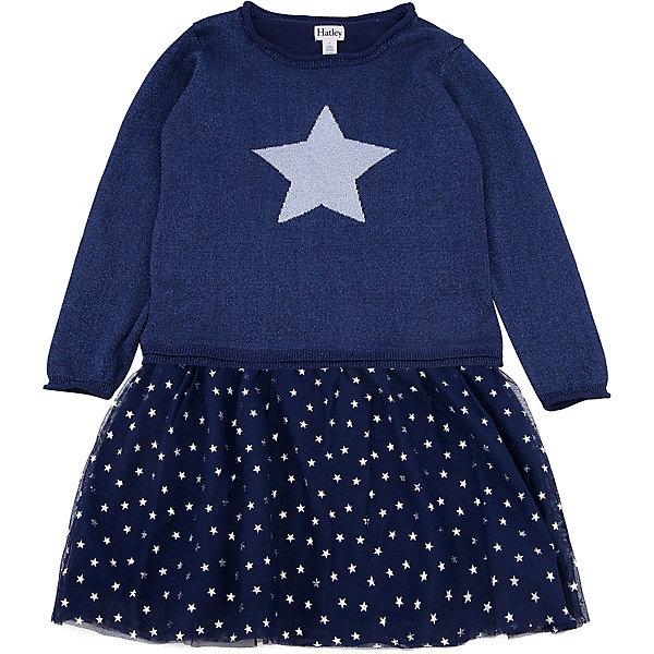 Платье Hatley для девочкиПлатья и сарафаны<br>Характеристики товара:<br><br>• цвет: синий<br>• состав ткани: 100% хлопок<br>• сезон: демисезон<br>• длинные рукава<br>• страна бренда: Канада<br>• страна изготовитель: Китай<br><br>Платье для ребенка декорировано оригинальной отделкой. Мягкий натуральный материал платья для детей позволяет коже дышать. Хлопок, из которого сделано детское платье, приятен на ощупь и гипоаллергенен. Качественная детская одежда от канадского бренда Hatley обеспечит ребенку комфорт.<br><br>Платье Hatley (Хатли) для девочки можно купить в нашем интернет-магазине.<br>Ширина мм: 236; Глубина мм: 16; Высота мм: 184; Вес г: 177; Цвет: синий; Возраст от месяцев: 72; Возраст до месяцев: 84; Пол: Женский; Возраст: Детский; Размер: 122,116,110,104,128; SKU: 7434795;