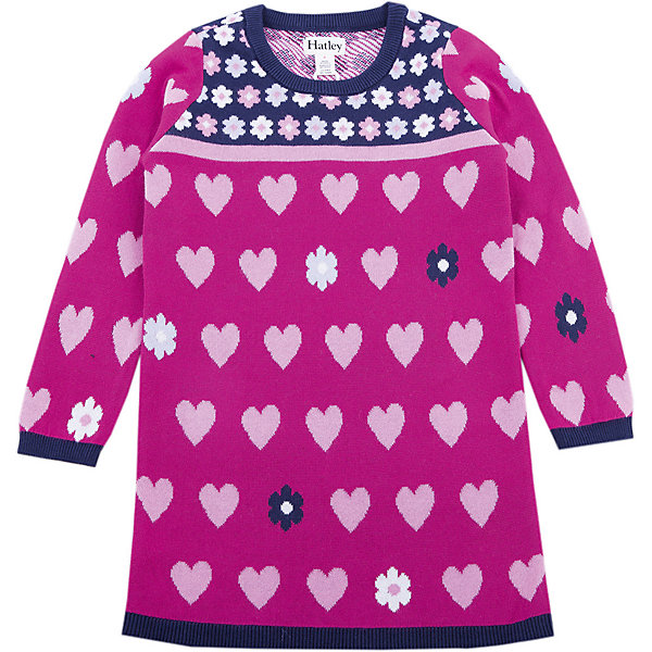 Платье Hatley для девочкиПлатья и сарафаны<br>Характеристики товара:<br><br>• цвет: бордовый<br>• состав ткани: 100% хлопок<br>• сезон: демисезон<br>• длинные рукава<br>• страна бренда: Канада<br>• страна изготовитель: Китай<br><br>Бордовое детское платье создает комфортные условия и удобно сидит по фигуре. Это детское платье выглядит оригинально и стильно. Платье для детей сделано из мягкого дышащего материала. Товары для детей от бренда Hatley из Канады завоевали любовь потребителей благодаря высокому качеству и стильному дизайну. <br><br>Платье Hatley (Хатли) для девочки можно купить в нашем интернет-магазине.<br>Ширина мм: 236; Глубина мм: 16; Высота мм: 184; Вес г: 177; Цвет: бордовый; Возраст от месяцев: 60; Возраст до месяцев: 72; Пол: Женский; Возраст: Детский; Размер: 116,98,104,110; SKU: 7434817;