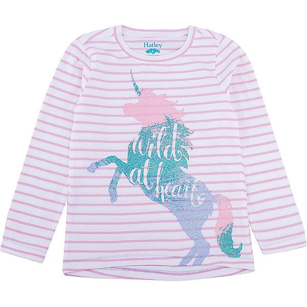 Футболка с длинным рукавом Hatley для девочкиФутболки с длинным рукавом<br>Характеристики товара:<br><br>• цвет: розовый<br>• состав ткани: 100% хлопок<br>• сезон: демисезон<br>• длинные рукава<br>• страна бренда: Канада<br>• страна изготовитель: Индия<br><br>Качественная детская одежда от канадского бренда Hatley обеспечит ребенку комфорт. Лонгслив для ребенка декорирован оригинальным принтом. Мягкий натуральный материал лонгслива для детей позволяет коже дышать. Хлопок, из которого сделана детская футболка с длинным рукавом, приятен на ощупь и гипоаллергенен. <br><br>Лонгслив Hatley (Хатли) для девочки можно купить в нашем интернет-магазине.<br>Ширина мм: 230; Глубина мм: 40; Высота мм: 220; Вес г: 250; Цвет: розовый; Возраст от месяцев: 36; Возраст до месяцев: 48; Пол: Женский; Возраст: Детский; Размер: 110,104,122,116; SKU: 7434827;