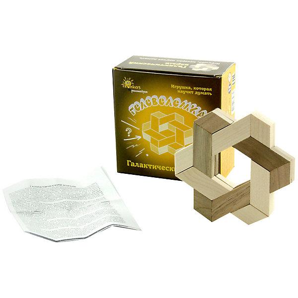 Головоломка Thinkers Галактический взрывКлассические головоломки<br>Характеристики товара:<br><br>• возраст: от 7лет;<br>• материал: дерево;<br>• упаковка: картонная коробка;<br>• в комплекте: головоломка, легенда;<br>• размер упаковки: 11х11х6 см;<br>• вес упаковки: 0,15 кг.;<br>• страна производитель: Украина.<br><br>Головоломка Thinkers (Финкерс) Галактический взрыв- одна из самых сложных и увлекательных игр для детей. В комплект входит захватывающая легенда о создании головоломки, что несомненно заинтересует малыша.<br><br>Необходимо собрать сложную фигуру в форме звезды приложив терпение и смекалку.<br>Головоломка изготовлена из натурального дерева, без использования красителей.<br><br>Головоломку Thinkers (Финкерс) Галактический взрыв можно купить в нашем интернет-магазине.<br>Ширина мм: 110; Глубина мм: 110; Высота мм: 55; Вес г: 152; Возраст от месяцев: 84; Возраст до месяцев: 2147483647; Пол: Унисекс; Возраст: Детский; SKU: 7434949;