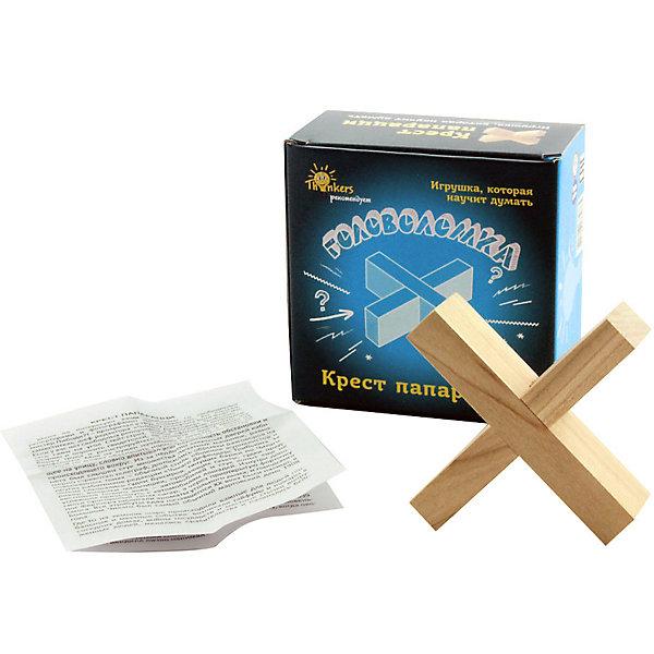 Головоломка  Thinkers Крест папарациКлассические головоломки<br>Характеристики товара:<br><br>• возраст: от 7лет;<br>• материал: дерево;<br>• упаковка: картонная коробка;<br>• в комплекте: головоломка, легенда;<br>• размер упаковки: 11х11х5,5 см;<br>• вес упаковки: 120 гр.;<br>• страна производитель: Украина.<br><br>Головоломка Thinkers (Финкерс) Крест папараци- одна из самых сложных и увлекательных игр для детей. В комплект входит захватывающая легенда о создании головоломки, что несомненно заинтересует малыша.<br><br>Головоломка изготовлена из натурального дерева, без использования красителей.<br><br>Головоломку Thinkers (Финкерс) Крест папараци можно купить в нашем интернет-магазине.<br>Ширина мм: 110; Глубина мм: 110; Высота мм: 55; Вес г: 123; Возраст от месяцев: 84; Возраст до месяцев: 2147483647; Пол: Унисекс; Возраст: Детский; SKU: 7434958;