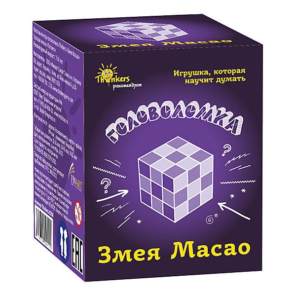Головоломка Thinkers Змея МасаоКлассические головоломки<br>Характеристики товара:<br><br>• возраст: от 7лет;<br>• материал: дерево;<br>• упаковка: картонная коробка;<br>• в комплекте: головоломка, легенда;<br>• размер упаковки: 11х8,5х7 см;<br>• вес упаковки: 400 гр.;<br>• страна производитель: Украина.<br><br>Головоломка Thinkers (Финкерс) Змея Масао- одна из самых сложных и увлекательных игр для детей. В комплект входит захватывающая легенда о создании головоломки, что несомненно заинтересует малыша.<br><br>Головоломка изготовлена из натурального дерева, без использования красителей.<br><br>Головоломку Thinkers (Финкерс) Змея Масао можно купить в нашем интернет-магазине.<br>Ширина мм: 85; Глубина мм: 65; Высота мм: 65; Вес г: 185; Возраст от месяцев: 84; Возраст до месяцев: 2147483647; Пол: Унисекс; Возраст: Детский; SKU: 7434974;