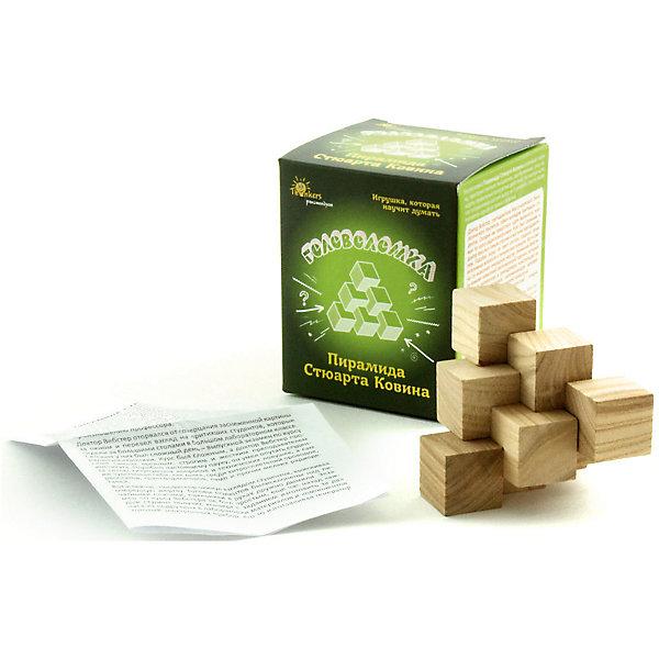 Головоломка Thinkers Пирамида Стюарта КовинаКлассические головоломки<br>Характеристики товара:<br><br>• возраст: от 7лет;<br>• материал: дерево;<br>• упаковка: картонная коробка;<br>• в комплекте: головоломка, легенда;<br>• размер упаковки: 11х8,5х7 см;<br>• вес упаковки: 400 гр.;<br>• страна производитель: Украина.<br><br>Головоломка Thinkers (Финкерс) Пирамида Стюарта Ковина- одна из самых сложных и увлекательных игр для детей. В комплект входит захватывающая легенда о создании головоломки, что несомненно заинтересует малыша.<br><br>Головоломка изготовлена из натурального дерева, без использования красителей.<br><br>Головоломку Thinkers (Финкерс) Пирамида Стюарта Ковина можно купить в нашем интернет-магазине.<br>Ширина мм: 85; Глубина мм: 85; Высота мм: 85; Вес г: 155; Возраст от месяцев: 84; Возраст до месяцев: 2147483647; Пол: Унисекс; Возраст: Детский; SKU: 7434976;
