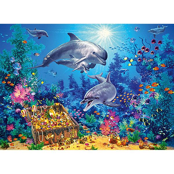 Пазл Семья дельфинов, 300 деталей, Castor LandПазлы классические<br>Изображение:Семья дельфинов. Кол-во деталей 300.<br>Ширина мм: 320; Глубина мм: 220; Высота мм: 47; Вес г: 300; Возраст от месяцев: 84; Возраст до месяцев: 2147483647; Пол: Унисекс; Возраст: Детский; SKU: 7435264;