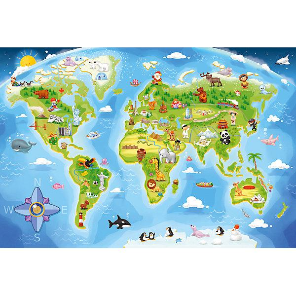 Купить Пазл Карта мира, 40 деталей MAXI Castor Land, Castorland, Польша, Унисекс