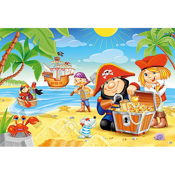 Купить Пазл Пиратские сокровища, 40 деталей MAXI Castor Land, Castorland, Польша, Унисекс