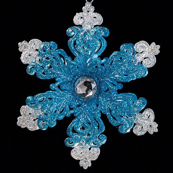 Украшение Снежинка шестиконечная 12 смЁлочные игрушки<br>Характеристики:<br><br>• количество: 1 шт.;<br>• материал: пластик;<br>• вес: 56 гр.;<br>• размер: 12х0,5х12 см;<br>• страна бренда: Россия.<br><br>«Снежинка шестиконечная» Erich Krause выполнена в сине-серебристом цвете с сияющим кристаллом в самом центре и блестками. Великолепное украшение на елку или в интерьер. Снежинку можно подвесить с помощью отверстия для шнурка.<br><br>Украшение «Снежинка шестиконечная» 12 см можно купить в нашем интернет-магазине.<br>Ширина мм: 120; Глубина мм: 5; Высота мм: 120; Вес г: 56; Возраст от месяцев: 84; Возраст до месяцев: 2147483647; Пол: Унисекс; Возраст: Детский; SKU: 7435904;