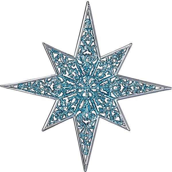 Украшение Зимняя звезда 12,5 смЁлочные игрушки<br>Характеристики:<br><br>• количество: 1 шт.;<br>• материал: пластик;<br>• вес: 31 гр.;<br>• размер: 12,5х1х12,5 см;<br>• страна бренда: Россия.<br><br>«Зимняя звезда» Erich Krause выполнена в праздничном бирюзово-серебристом цвете с ажурными узорами и блестками. Великолепное украшение на елку или в интерьер.<br><br>Украшение «Зимняя звезда» 12,5 см можно купить в нашем интернет-магазине.<br>Ширина мм: 10; Глубина мм: 125; Высота мм: 125; Вес г: 31; Возраст от месяцев: 84; Возраст до месяцев: 2147483647; Пол: Унисекс; Возраст: Детский; SKU: 7435909;