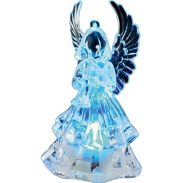 Украшение Ангел с подсветкой 9,5 смНовогодние световые фигуры<br>Характеристики:<br><br>• количество: 1 шт.;<br>• материал: акрил;<br>• наличие батарейки: в комплекте;<br>• вес: 41 гр.;<br>• размер: 4,5х6х9,5 см;<br>• страна бренда: Россия.<br><br>«Ангел с подсветкой» Erich Krause очаровательно светится в темноте, дополняя свет гирлянд. Свечение меняет цвет, включатель находится в нижней части фигурки. Украшение отлично впишется на веточку елки или на праздничном столе рядом со свечами.<br><br>Украшение «Ангел с подсветкой» 9,5 см можно купить в нашем интернет-магазине.<br>Ширина мм: 45; Глубина мм: 60; Высота мм: 95; Вес г: 41; Возраст от месяцев: 84; Возраст до месяцев: 2147483647; Пол: Унисекс; Возраст: Детский; SKU: 7435917;
