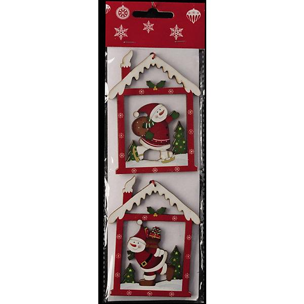 Набор 2 украшения Окошки 10,5 смЁлочные игрушки<br>Характеристики:<br><br>• количество: 2 шт.;<br>• материал: дерево;<br>• вес: 24 гр.;<br>• размер упаковки: 1х9х26,5 см;<br>• страна бренда: Россия.<br><br>Набор «Окошки» Erich Krause выполнен из дерева. Украшения в виде снеговиков в домиках можно подвесить на елку или дополнить ими праздничный интерьер. Яркие краски покрытия не тускнеют со временем. Дерево устойчиво к механическим повреждениям, так что ронять игрушку не страшно.<br><br>Набор 2 украшения «Окошки» 10,5 см можно купить в нашем интернет-магазине.<br><br>Ширина мм: 10<br>Глубина мм: 90<br>Высота мм: 265<br>Вес г: 24<br>Возраст от месяцев: 84<br>Возраст до месяцев: 2147483647<br>Пол: Унисекс<br>Возраст: Детский<br>SKU: 7435941